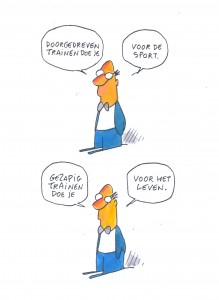 cartoon gezapig trainen